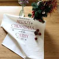 Christmas Placemat Fresh Cotton Tablecloth Napkin Cloth Home Furnishing Insulation Pad Baking Mat