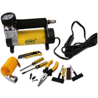 12V Portable Metal Car Tire Pump Emergency Inflatable Pump With Light Electric Car Repairing Tool