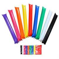 5 Pairs Thick Cheering Balloon Sticks Cheer Refueling Sticks Celebration Party Noise Maker