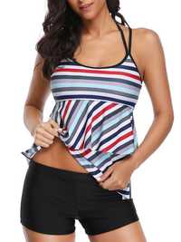 Split Halter Strap Neck Ladies Swimwear