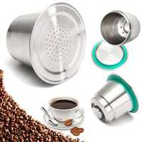 Fine Grind Coffee Capsule Cup Stainless Steel Reusable Refillable For Nespresso