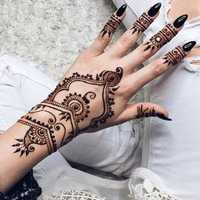 Black Natural Squishy Herbal Henna Cone Temporary Tattoo Body Art Tattoos