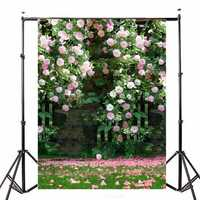 Photography Vinyl Background Romantic Wedding Rendezvous Garden Roses Cluster