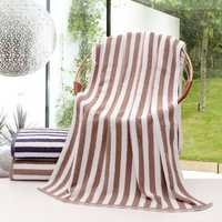 140x70cm Striated Soft 100% Pure Cotton High Hygroscopicity Terry Bath Beach Towel