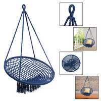 Outdoor Mesh Hanging Chair Cotton Swing Hammock Camping Garden Yard