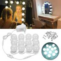 12PCS EU Plug Hollywood Style LED Bulbs Dimmable Mirror Light Kit for Makeup Dressing AC100-240V