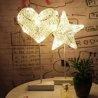 Christmas LED Rattan Table Mini Night Light Desk Lamp Wedding Bedroom Christmas Decor Gifts