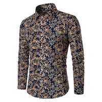 Mens Cotton Flower Printing Design Shirts