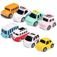 Nordic Traffic Parking Scene Map Pull Back Mini Toy Car Model Educational Children Cartoon Toys Gifts