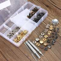 10pcs Press Stud Buttons Poppers Leather Craft with Fixings Tools Kit 633Tools