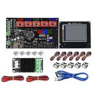 MKS-GEN Controller Mainboard + TFT28 LCD Display + MOS Module Kit with 5Pcs drv4988 & Limit Switch for 3D Printer Ramps 1.4