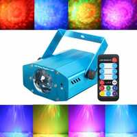 Mini LED Laser Projector Auto/Sound Activated DJ Party KTV Xmas Stage Light Lamp