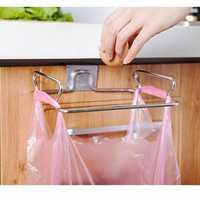 Stainless Steel Kitchen Cupboard Drawer Door Waste Bin Stand Scrap Trap Bowl Dustbin Hanging Rack