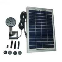 12V 5W Solar Power Mini Fountain Pump Garden Landscape DC Brushless Water Pump