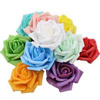 50pcs 7.5cm Artificial Simulation Foam Rose Bouquet Flower Ball Wedding Party Home Decoration