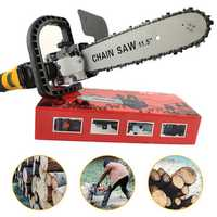 11.5 Inch DIY Electric Chain Saw Bracket Set with Adjustment Knob Woodworking