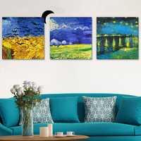 50x50cm 3Pcs Combination PAG DIY Frameless Painting 3D Sticker Oil Painting Landscape Grassland Wall Decor