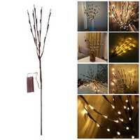 Battery Powered 20 LED Tree Branch Lamp Christmas Party Garden Decor Fairy String Light