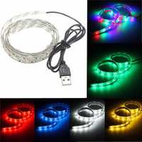 50cm USB LED Strip Light TV Background Lighting Kit RGB Warm pure White Red Blue 5V