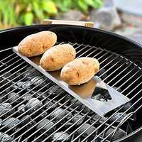 15.5in Stainless Steel BBQ Grilling Tool Barbecue Accessorice Potato Grill Rack Outdoor BBQ Barbe