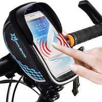 Original RockBros Universal Bike Bag Touch Screen Cycling Handlebar Bag For iPhone 6/6s Plus Samsung