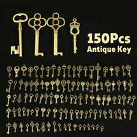 150 Pcs Antique DIY Pendant Keychain Kits