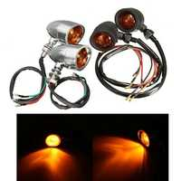 Pair Turn Signals Light For Harley Cruiser Chopper Honda/Suzuki/Kawasaki/Yamaha