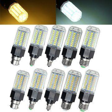 Non Dimmable E27 E26 E12 E14 B22 9W 5730 SMD LED Corn Light Bulb Lamp AC110 265V