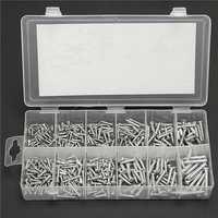 360pcs Silver Carbon Steel M2.5-M4 Self-tapping Screws Assortment Kits