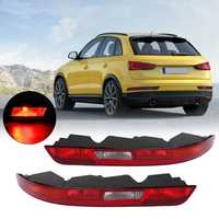 1Pcs Car Right/Left Rear Lower Bumper Tail Light Red for AUDI Q3 2016-2018