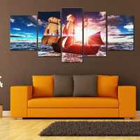 5PCS Uframed Sunset Modern Art Canvas Oil Paintings Pictures Print Home Wall Decor