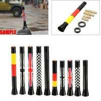 7.7cm/10.7cm Union Jack UK GER Flag Carbon Fiber Grid Car Antenna
