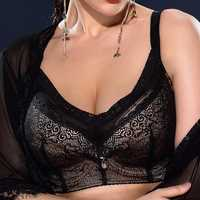 Plus Size Lace No Padded Thin Cup Cami Bra