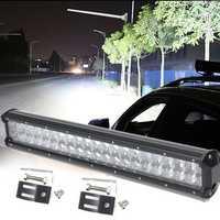 20inch 126W LED Work Light Bar Spot Flood Combo Beam For Jeep Off Road UTV SUV 4WD DC10-30V