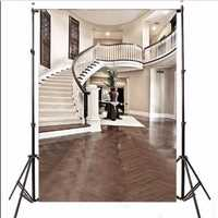 Vinyl Interior Staircase Hall Mansion Cloth Photography Backdrop Background