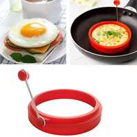 Honana HN-EG1 Omelette Maker Mold Round Shape Silicone Nonstick Frying Egg Mould Shape Ring Pancake Rings Mold For Kitchen Cooking Mould
