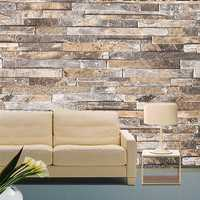 3D Wall Paper Brick Stone Pattern Vinyl WallPaper Roll Living Room TV Background Decor