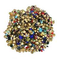 1200pcs Nail Art Decoration Rhinestones Stud Colorful Shiny Clear Crystal Manicure Tool