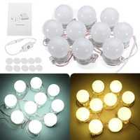 10 Pcs Hollywood Style LED Vanity Makeup Illuminated Dressing Table Mirror Light
