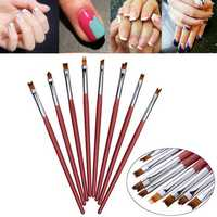 8pcs 3D French Nail Art DIY Painting Drawing Brush Set Acrylic UV Gel Polish Design Manicure Pen