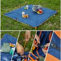 145 x 145cm Double Layer Waterproof Collapsible Carpet Beach Bag Blanket Camping Multifunction Pad Moistureproof Mat Picnic Garden Outdoor