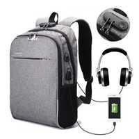 Men's 3M Reflective Anti-theft Lock Laptop Backpack Shoulder Bag with USB Port