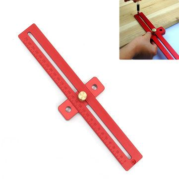 Aluminum 270mm Scale Wood Measure Ruler Straight Line Drawing Woodworking Tool