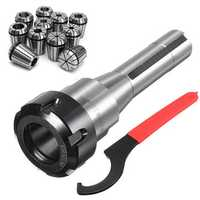 11pcs ER32 Spring Collets Set With R8-ER32 Collet Chuck Holder For CNC Milling Lathe Tool