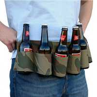 6 Pack Beer Soda Belt Drinks Beer Belt Holder Bottlr Carrier For Outdoor Camping Party