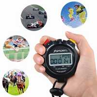 IPRee® Waterproof Digital 10 Laps Memory Chronograph Stopwatch Two Row Sport Counter Timer