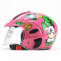 Motorcycle Children Helmet ABS Open Face Protective Warm Cycling Motocross