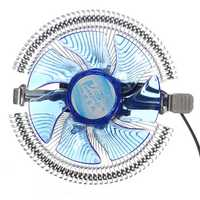 Quiet Blue LED CPU Cooler Cooling Fan Heat Sink for Intel LGA775 1155/1156 i3/i5/i7 AM2 AM3