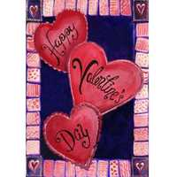 12.5''x18'' 3 Hearts For Valentine's Day Garden Flag Love Heart Banner Decorations