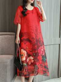 Women Chiffon Floral Dress